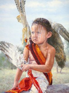 Little Warrior Painting by Judith Moore-Knapp kp