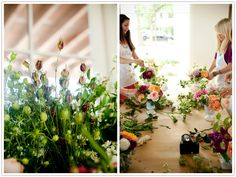 Flower arranging.