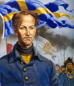 King Charles XII of Sweden and his army