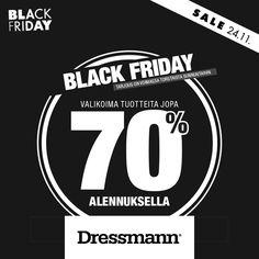 DRESSMANN Valikoima tuotteita jopa 70% alennuksella.