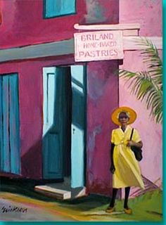 Briland Pastries by Shari Erickson Caribbean Culture, Caribbean Art, Tropical Art, Tropical Paintings, West Art, Art Of Living, Black Art, Love Art, Amazing Art