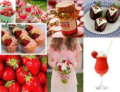 images if strawberry wedding  | Strawberry Wedding Inspriation Board