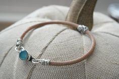 Natural Leather Blue Chalcedony Sterling silver by dooglelinhk