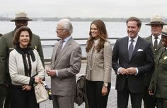 MYROYALS  FASHİON: King Carl Gustaf and Queen Silvia in New York visit Princess Madeleine and her fiancee Chris O'Neill and visit Castle Clinton National Monument