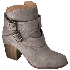 Target Women's Mossimo Supply Co Jessica Genuine Suede Strappy Boots $50 :: have an adjustable buckle strap for fit, plus an extra decorative strap to add interest. The 2.5 inch block heel is the perfect finishing touch. Dress this boot down for daytime, or dress it up for an evening out.
