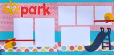 A day at the Park! - 12x12 Scrapbook Page Kit $7.99 Capture the smiles & fun of spending an afternoon at the park!