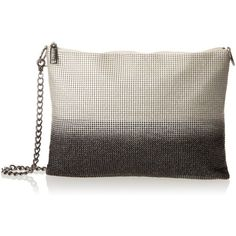 Whiting & Davis Metal Mesh Ombre Evening Bag ($77) ❤ liked on Polyvore featuring bags, handbags, shoulder bags, mesh purse, evening bags, evening hand bags, white crossbody purse and metal mesh purse