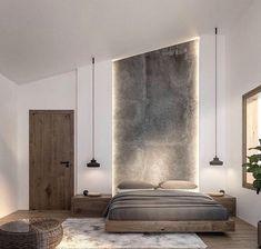 60 Ideas For Bedroom Interior Design Rustic Modern Master Bedroom, Modern Bedroom Design, Modern Bedrooms, Modern Bedroom Lighting, Modern Lighting, Bedroom Interior Design, Club Lighting, Bedroom Interiors, Modern Chandelier