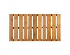 Aus reinem Bambus verarbeitet, ist unser Badvorleger Taunus stilvoll und funktional zugleich. Er ist mit einer rutschfesten Unterseite versehen, sodass er in Ihrem badezimmer an Ort und Stelle bleibt. Badvorleger Taunus ist durch die Längsstreben erhaben und ist stets gut belüftet durch die Querstangen. Das Material, Bambus, verleiht Ihrem Badezimmer eine tropische Atmosphäre, in der es sich gut entspannen lässt.