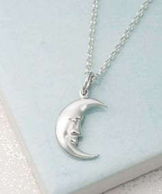 This Sterling Silver Moon Pendant Necklace is perfect! #zulilyfinds