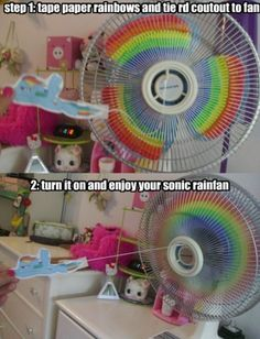 Sonic Rainboom fan! ( I did this to my new fan, and it looks awesome)