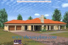 Overall Dimensions- x mBathrooms- 3 Car GarageArea- Square meters 4 Bedroom House Designs, 5 Bedroom House Plans, My House Plans, Home Room Design, Home Design Plans, House Rooms, Single Storey House Plans, House Plans South Africa, African House