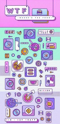 Mexican graphic designer and illustration lover :) Graphisches Design, Icon Design, Layout Design, Flat Design, Pop Art Design, Graphic Design Illustration, Digital Illustration, Foto Pal Face, Branding