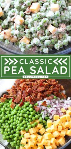 Pea Salad Recipes, Pea Recipes, Chicken Salad Recipes, Healthy Salad Recipes, Cooking Recipes, Chicken Salads, Dishes Recipes, Recipe For Pea Salad, Chicken Peas Recipe