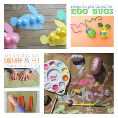 Fun and easy Easter crafts for kids.