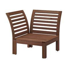 SOLLERÖN One-seat section, outdoor, dark gray - IKEA Teak, Outdoor Chairs, Outdoor Furniture, Outdoor Daybed, Lounge Furniture, Outdoor Lounge, Patio Chairs, Outdoor Seating, Wooden Furniture