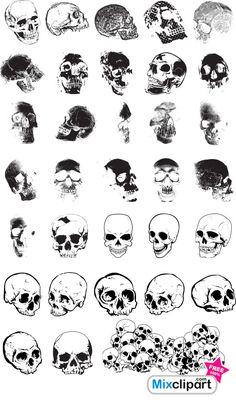 free photoshop brushes   Photoshop Brushes of Skulls