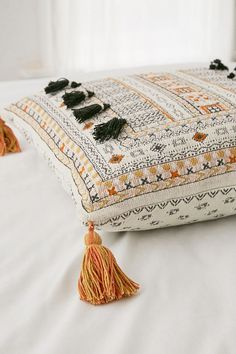 Slide View: 3: Harper Embroidered Throw Pillow