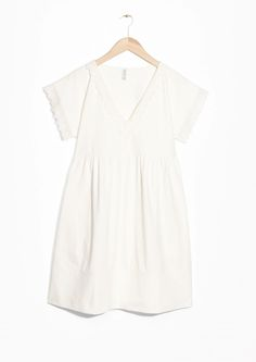 & Other Stories | Broderie Anglaise Jersey Dress