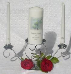 How do you utilize suspended candles? Great ideas for weddings, functions, making astounding focal points. Unity Candle, Candle Set, Candle Sconces, Dollar Tree Centerpieces, Bride Groom, Orchids, Wall Lights, Focal Points, Names