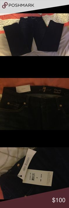7 For All Mankind Jeans size 32 NWT Bootcut slim illusion 7 jeans! Size 32 still have tags on them! 7 for all Mankind Pants Boot Cut & Flare