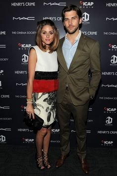 """Olivia Palermo and Johannes Huebl attending the Cinema Society with DeLeon Tequila And Moving Pictures Film & Television Host A Screening Of """"Henry's Crime"""" at Landmark's Sunshine Cinemaㅣ April, 2011 Estilo Olivia Palermo, Olivia Palermo Lookbook, Olivia Palermo Style, Deleon Tequila, Fashion Couple, Moving Pictures, Star Fashion, Crime, Autumn Fashion"""