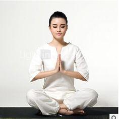 Per donna Yoga Completi Maniche lunghe Asciugatura rapida / Antistatico / wicking / Limita la formazione di funghiBianco / Verde / Viola - EUR €44.09