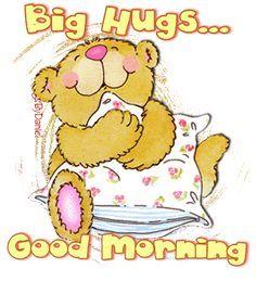 Big Hugs Good Morning cute coffee hugs bear good morning good morning greeting good morning gif