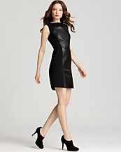 Milly Leather Inset Dress - Nina