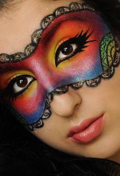 Lace Makeup Mask | Makeup | Pinterest | Lace makeup, Masking and ...