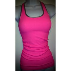 Stretchy Pink Tank Top w/Silver Trim Stretchy Pink Tank Top w/Silver Trim. Cute with blue jeans short. See my other listings.  Bundle & Save see you Monday Tops Tank Tops