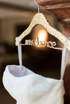 Gatsby Themed Sparkle Wedding Hanger, Personalized, Custom Hanger, Bride Hanger, Name Hanger, Bridal Gift, Glitter Wood THE ORIGINAL