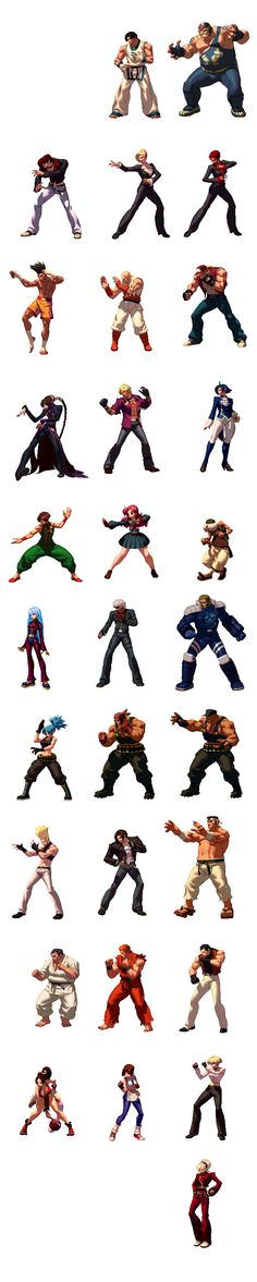KOF_XIII_all_characters.png (677×3377)