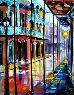 I love the work of Diane Millsap! She creates gorgeous paintings of New Orleans!