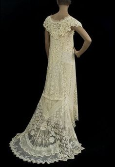 Wedding Dress of Mixed Lace, 1920s. WOW
