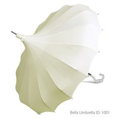 Umbrella ID 1001 | Ivory Signature Bella Pagoda Umbrella | Bella Umbrella | Vintage Umbrella Rentals