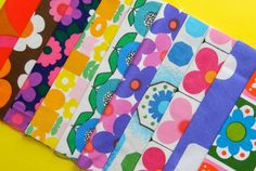 Your place to buy and sell all things handmade Marimekko, Vintage Fabrics, Vintage Stuff, Print Patterns, I Shop, Cotton Fabric, Cushions, Quilts, Retro