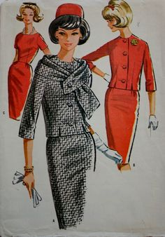 1960s Wiggle Dress and Jacket Simplicity 2372