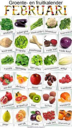 Groente en Fruit Kalander voor Februari