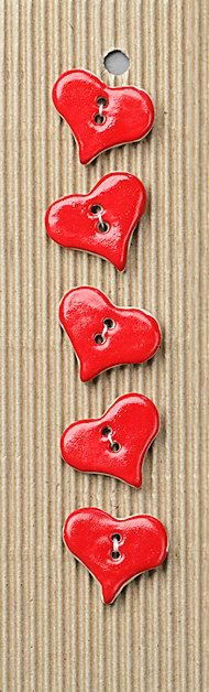 red heart buttons wonder can I make them from clay or will they be too brittle