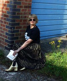 5 Over 50 challenge June 2017: Marvellous Metallics. Is This Mutton's Gail Hanlon attempts rock chic