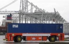 Container Transport, Basel, Transportation, Vehicles