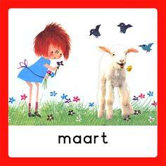Maandkaarten School Jobs, Schedule Cards, Hello March, Working With Children, Schmidt, Child Development, In Kindergarten, Picture Quotes, Diy For Kids