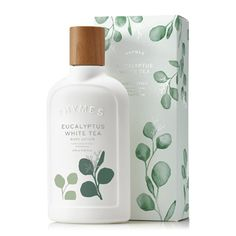Thymes Eucalyptus White Tea Body Lotion is an exuberant infusion of purifying spearmint and eucalyptus steeped into herbaceous white tea. Cozy cedar leaf and fir needle bring a clean and lingering finish. Perfume Zara, Perfume Diesel, Cosmetic Packaging, Beauty Packaging, Skincare Packaging, Perfume Fahrenheit, Perfume Invictus, Cosmetic Design, Packaging
