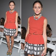 NYFW: Shop Olivia Palermo's Front-Row Tibi Top and Printed Skirt