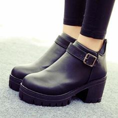Buy 'SouthBay Shoes – Chunky Heel Platform Ankle Boots' with Free International Shipping at YesStyle.com. Browse and shop for thousands of Asian fashion items from China and more!