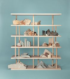 Dom-ino is a crossbreed between a bookcase and a shelves unit, a place for objects to drift to, a multilayer object where to sensibly accumulate our daily life's belongings. Trendy Furniture, Furniture Design, Terence Conran, Organizer, Bookshelves, Bookshelf Design, Bookcase, Shelving, Stoneware