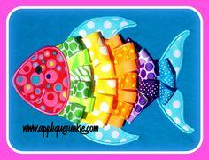 3D Ribbon Fish Applique Design / Applique Junkie