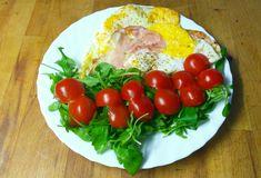 Eggs,ham,tomatoes and rucola :-)