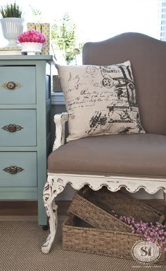 General Finishes Chalk Style Fabric Painted Chair